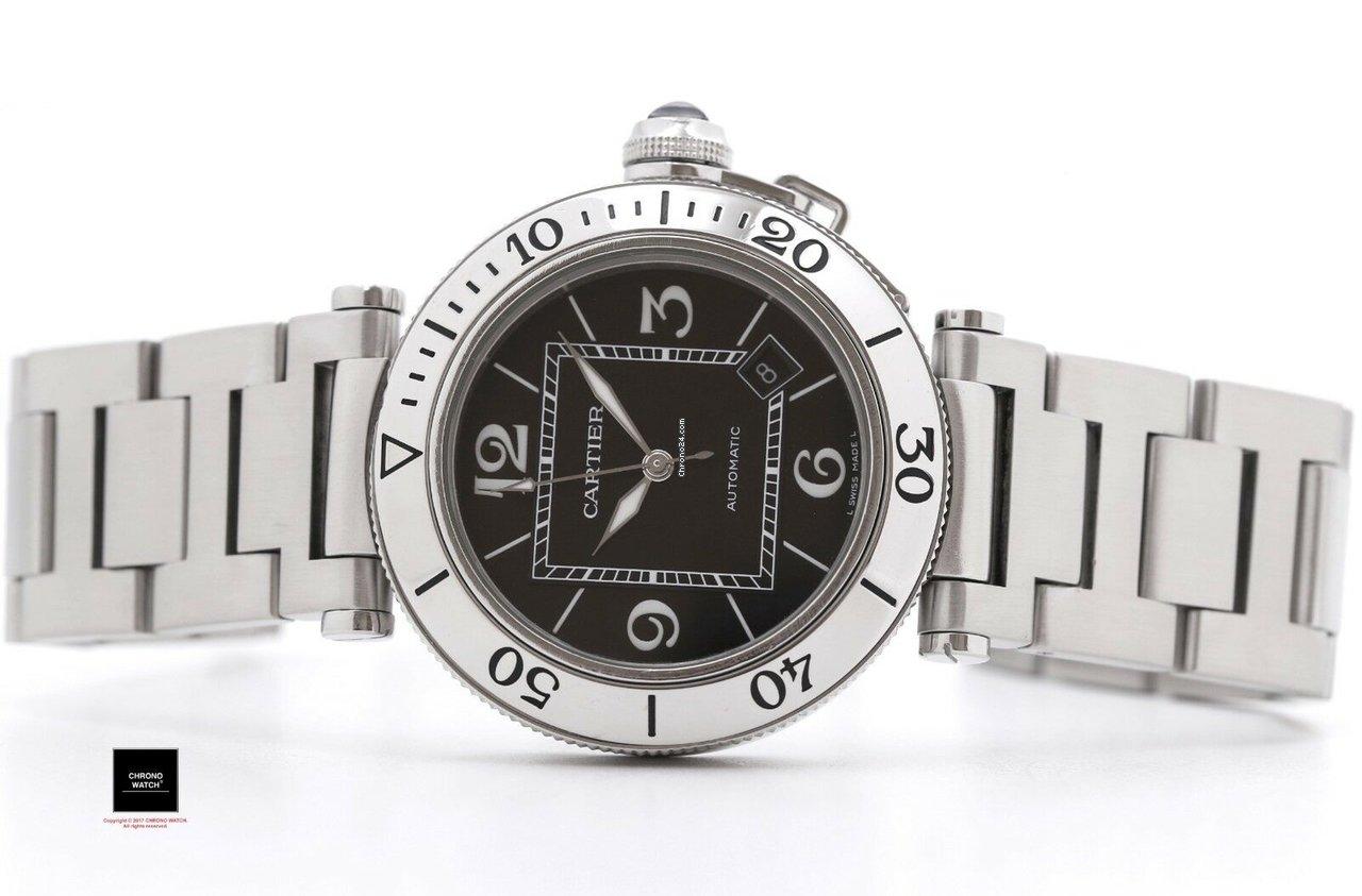 fcd569806fd Cartier Pasha Seatimer - Todos os preços de relógios Cartier Pasha Seatimer  na Chrono24