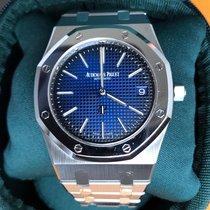 Audemars Piguet Titanium Automatic Blue No numerals 39mm pre-owned Royal Oak Jumbo