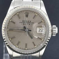 Rolex Oyster Perpetual Lady Date Staal 26mm Grijs Geen cijfers