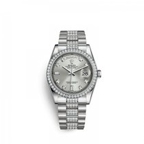 Rolex Platinum Automatic Silver 36mm new Day-Date 36