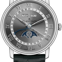 Blancpain Villeret Quantième Complet new Automatic Watch with original box and original papers 6654-1113-55B
