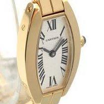 Cartier Lanières Gelbgold 16mm Weiß Römisch