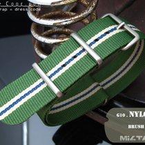 MiLTAT Thick 22mm NATO Watch Strap, Green & White, P