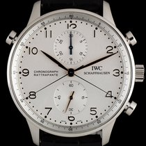 IWC Chronograph 41mm Manual winding pre-owned Portuguese Chronograph Silver