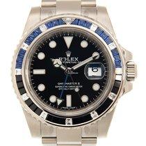 Rolex White gold black dial GMT Master II