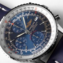 Breitling Navitimer HERITAGE Steel Case Blue Leather and Dial...