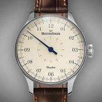 Meistersinger Steel 43mm Manual winding CC103 new