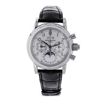 Patek Philippe Perpetual Calendar Chronograph Platinum 36.7mm Silver Arabic numerals United States of America, New York, New York