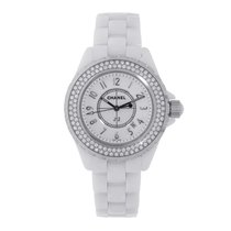 Chanel J12 White Ceramic 33mm Quartz Ladies Watch H0967