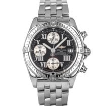 Breitling Steel Automatic Black Roman numerals 39mm pre-owned Chrono Cockpit
