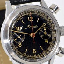Minerva Steel 34mm Manual winding round chronograph pushers pre-owned