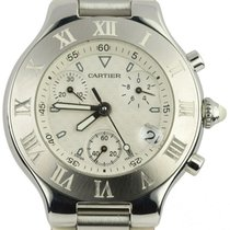 Cartier 21 Chronoscaph Steel 38mm White United States of America, New York, Lynbrook