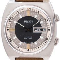 Gruen Steel 38mm Automatic 730 pre-owned
