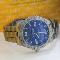 Breitling pre-owned Quartz 40mm Blue Sapphire Glass 10 ATM