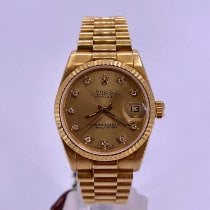 Rolex Datejust pre-owned 31mm Champagne Date Yellow gold