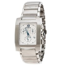 Montblanc Steel Quartz Montblanc Silver Stainless Steel Profile Chronograph 101561 pre-owned