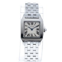 Cartier Santos Demoiselle pre-owned 20mm Champagne Steel