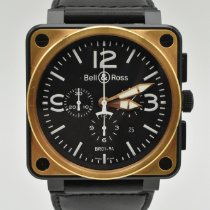 Bell & Ross Rose gold Automatic Black Arabic numerals 46mm pre-owned BR 01-94 Chronographe