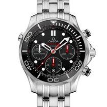 Omega Seamaster Diver 300 M nouveau 2020 Remontage automatique Chronographe Montre avec coffret d'origine et papiers d'origine 212.30.44.50.01.001
