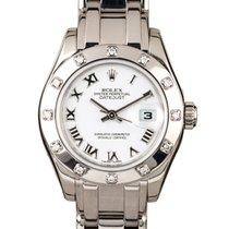 Rolex Lady-Datejust Pearlmaster Weißgold 34mm Weiß