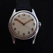Alpina Vintage mechanical Steel Men's Watch 50's