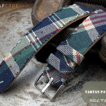 MiLTAT Dundee Tartan Pattern Watch Band with Adapter