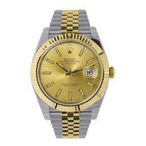 Rolex DATEJUST 41mm Steel 18K Yellow Gold Watch Jubilee 126333