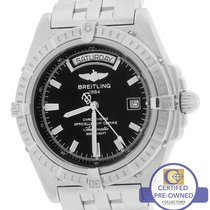 Breitling Headwind Windrider Day-Date Black Auto 43mm Stainles...
