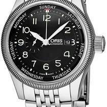 Oris Big Crown Small Second Pointer Day Stahl Schwarz
