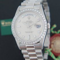 Rolex Day-Date Platinum Diamonds 18346