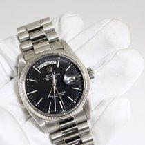 Rolex Day-Date White gold rare black matte dial