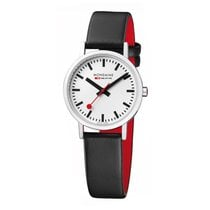 Mondaine Steel 30mm Quartz A658.30323.11SBB MONDAINE CLASSIC Bianco Nero 30mm new
