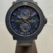 Ulysse Nardin Diver Black Sea pre-owned 45.8mm Blue Date Rubber