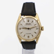Rolex Bubble Back pre-owned 34mm Yellow gold