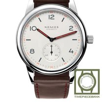 NOMOS Club Automat Steel 40mm White Arabic numerals