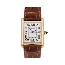 Cartier Tank Louis Cartier Yellow gold 33.7mm Silver Roman numerals United States of America, Pennsylvania, Bala Cynwyd