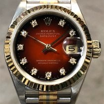 Rolex Lady-Datejust Hvitt gull 26mm Rød