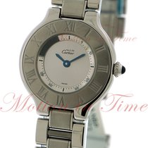 Cartier 21 Must de Cartier Steel 28mm Silver Roman numerals United States of America, New York, New York