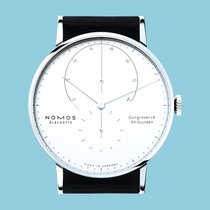 NOMOS Lambda White gold 42mm White No numerals