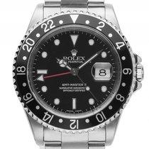 Rolex GMT Master II schwarz Stahl Automatik Armband Oyster...
