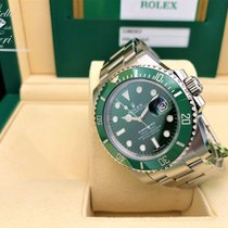 Rolex Submariner Date pre-owned 40mm Green Date GMT Steel
