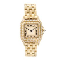Cartier Panthère Ladies 18K Gold, Original Diamonds +Boxed