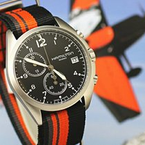 Hamilton Khaki Pilot Pioneer H76552933 HAMILTON KHAKI AVIATION Nero Arancione 41mm new