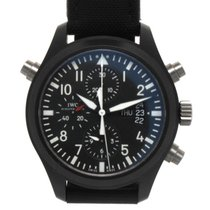 IWC Pilot Double Chronograph pre-owned 44mm Black Chronograph Double chronograph Date Textile