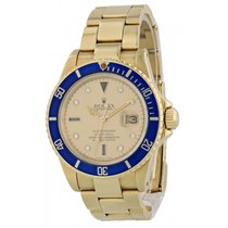 Rolex 16808 Yellow gold 1981 Submariner Date 40mm pre-owned United States of America, New York, New York