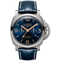 Panerai Luminor 1950 8 Days GMT Titanium 47mm Blue Arabic numerals United Kingdom, Edinburgh