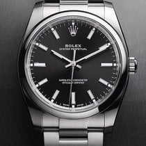Rolex Oyster Perpetual 34 Steel Black Arabic numerals Singapore, Singapore