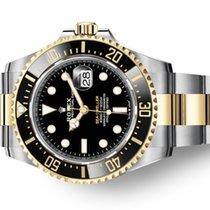 Rolex Sea-Dweller Zlato/Zeljezo 43mm Crn Bez brojeva