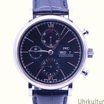 IWC Portofino Chronograph Aço 42mm Preto