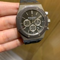 Audemars Piguet Royal Oak Chronograph Stal 41mm Szary Bez cyfr